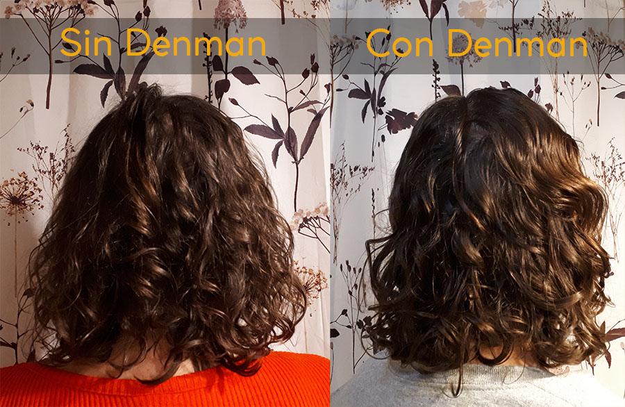 Denman Brush - Comparativa sin vs con